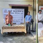 Mask and Sanitizer Distribution in Basti